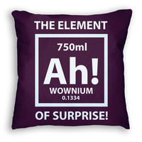 Funny Science Pun Pillow ( Six3 Collective )