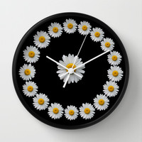 DAISY TIME Wall Clock by catspaws