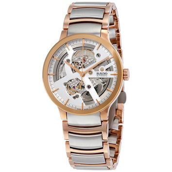 Rado Centrix Automatic Silver Skeleton Dial Mens Watch R30180113
