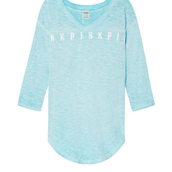 Boyfriend V-Neck Jersey - PINK - Victoria's Secret