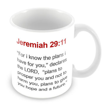 Jeremiah 29:11 Mug Bible Mug Bible Quote Mug Coffee Mug Church Gift Catholic Christian Gift Bible Verse Religion PM10