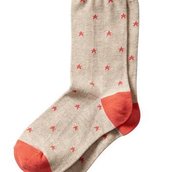 Banana Republic Factory Star Sock Size One Size - Oatmeal