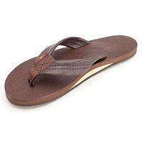 Women's Single Layer Classic Leather Sandal in Mocha by Rainbow Sandals