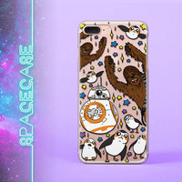 Star Wars iPhone X case Chewbacca iPhone 7 Wookiee Samsung S8 case Porgs iPhone 8 Case Galaxy S7 iPhone 6 Plus Bb8 iPhone 5 5S SE Samsung S6