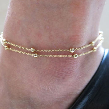 Simple Bead Anklet