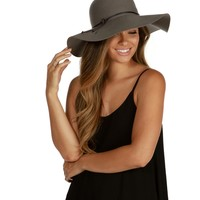 Gray Feels Like California Floppy Hat