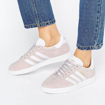 adidas Originals Ice Purple Suede Gazelle Unisex Sneakers at asos.com