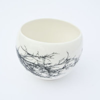 Tea Cup With Delicate Twig