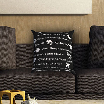 disney lessons learned mash up Pillow Cover , Custom Zippered Pillow Case One Side Two SIde