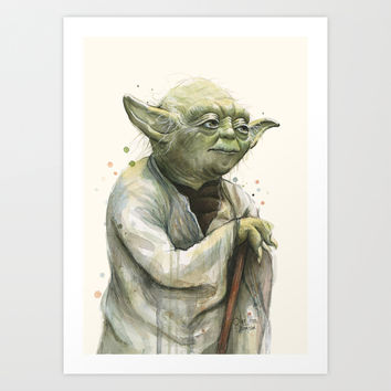 Yoda  Art Print by Olechka