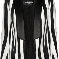 Balmain | Striped satin blazer | NET-A-PORTER.COM