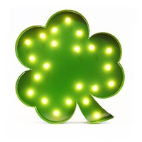 Clover Vintage Marquee Lights Sign (Green Finish)