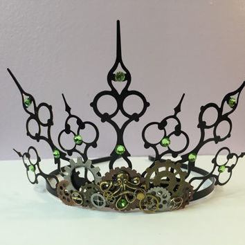 Steampunk elven or fairy crown circlet tiara head piece.