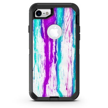 Running Purple and Teal WaterColor Paint - iPhone 7 or 8 OtterBox Case & Skin Kits