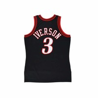 Original NBA Jerseys Number 3 M&N AUTHENTIC PlayerVersion Retro Jerseys Philadelphia Sixers Allen Iverson Men's Jerseys