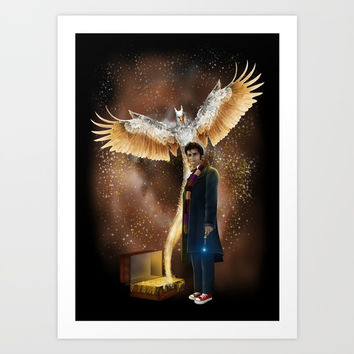 10th Doctor who with thunderbird iPhone, ipod, ipad, pillow case and tshirt Art Print by Three Second