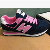 New balance low ventilation trend shoes shoes Black + Pink N