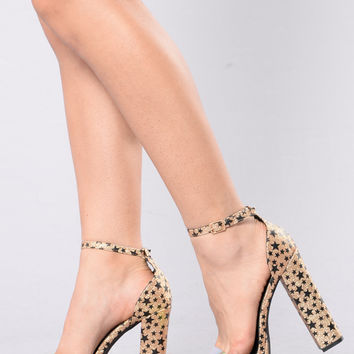 Hollywood Queen Heel - Gold