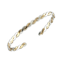 Cuff Bracelet Flat Twist - Mix Metals
