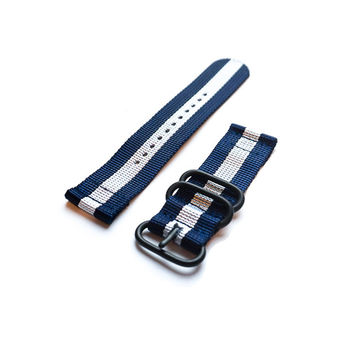 Smart Watch Strap PVD Navy and White