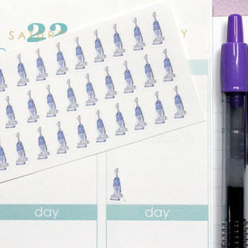 55 Small Vacuum Stickers! Perfect for Erin Condren Life Planner, Filofax, Kikkik, Plum Paper and other agenda, or scrapbooking! #SQ00195