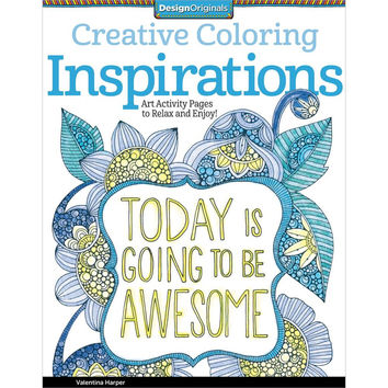 Creative Coloring Inspirations Adult Coloring and Activity Book by Valentina Harper