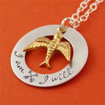 Hunger Games - I Am. I Will. - Necklace - Spiffing Jewelry