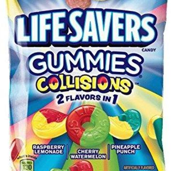 Life Savers Collision Gummies Candy Bag, 7 ounce (12 Packs)