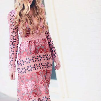The Medallion Maxi Dress in Mauve