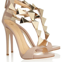 Giuseppe Zanotti | Studded leather sandals | NET-A-PORTER.COM