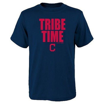 Cleveland Indians 'Tribe Time' Boys T-Shirt (X-Large)