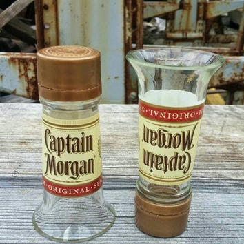 Shot Glasses From Recycled Captain Morgan