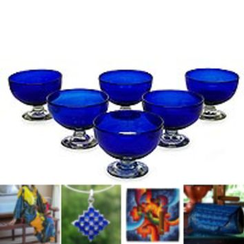 DRINKWARE from Mexico - Handblown & Ceramic Drinking Glasses