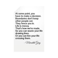 Vertical Wall Decals, TV series quotes, Meredith Grey, Grey's Anatomy quotations