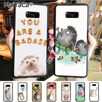 MaiYaCa Cute Hedgehog Diy Colorful Printing TPU  phone case for samsung galaxy s9 plus s7 s6edge s8 plus s5 case