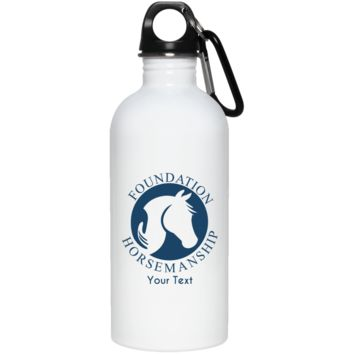 Personalized Foundation Horsemanship  20 oz. Stainless Steel Water Bottle