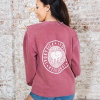 Vintage Rose Crew Neck Sweatshirt