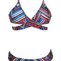 Antigua Print Triangle Bikini