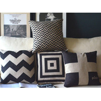 Black and White Print Decorative Pillow [123] : Cozyhere