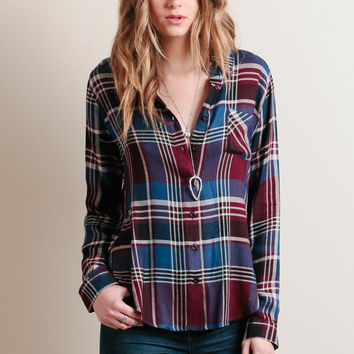 Yosemite Falls Plaid Button-Up