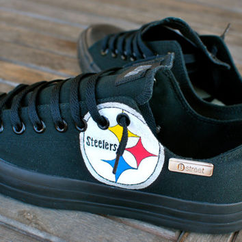 Hand Painted Pittsburg Steelers Converse Sneakers