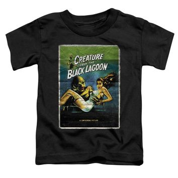 Creature from the Black Lagoon Toddler T-Shirt Movie Poster Black Tee