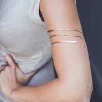 Simple Arm Cuff in Gold