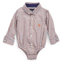 Infant Boy's Andy & Evan Button Down Bodysuit,