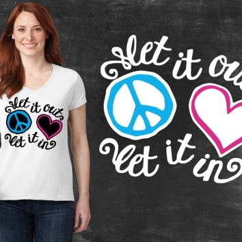 Peace Love Graphic T-shirt