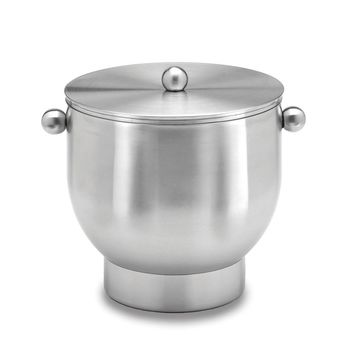 Brushed 18/8 Stainless Steel Doublewall Ice Bucket W/lid