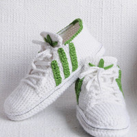 Adidas Inspired sneakers US 11-13 Men (EU 44-46) Sneakers Crochet Pdf Pattern for slippers+ pattern for outer sole