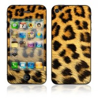 DecalSkin Apple iPhone 4 Skin Cover - Leopard Print