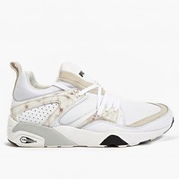 Puma Men's White Blaze of Glory Marble Trinomic Sneakers