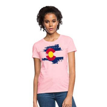 Grunge Colorado Flag Women's T-Shirt